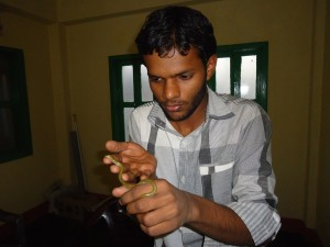Rescued L.jara in Biologist's hand @MWT office