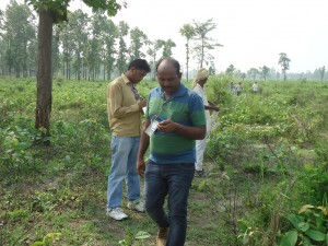 MWT assisting Ncell team & DoF for survey of plantation area.