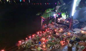 Chhath Celebration at Night