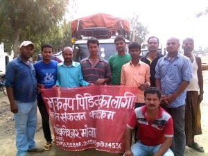 All set to transport donated materials for Earthquake victims
