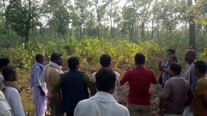 Field Visit by local youth and politicians at DPF