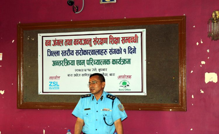 Guidance and conclusion of the programme by SP, Bara in District Level Interaction and Introduction Program at Kalaiya, Bara.