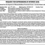 Express of Interest published to seek investors and donors.
