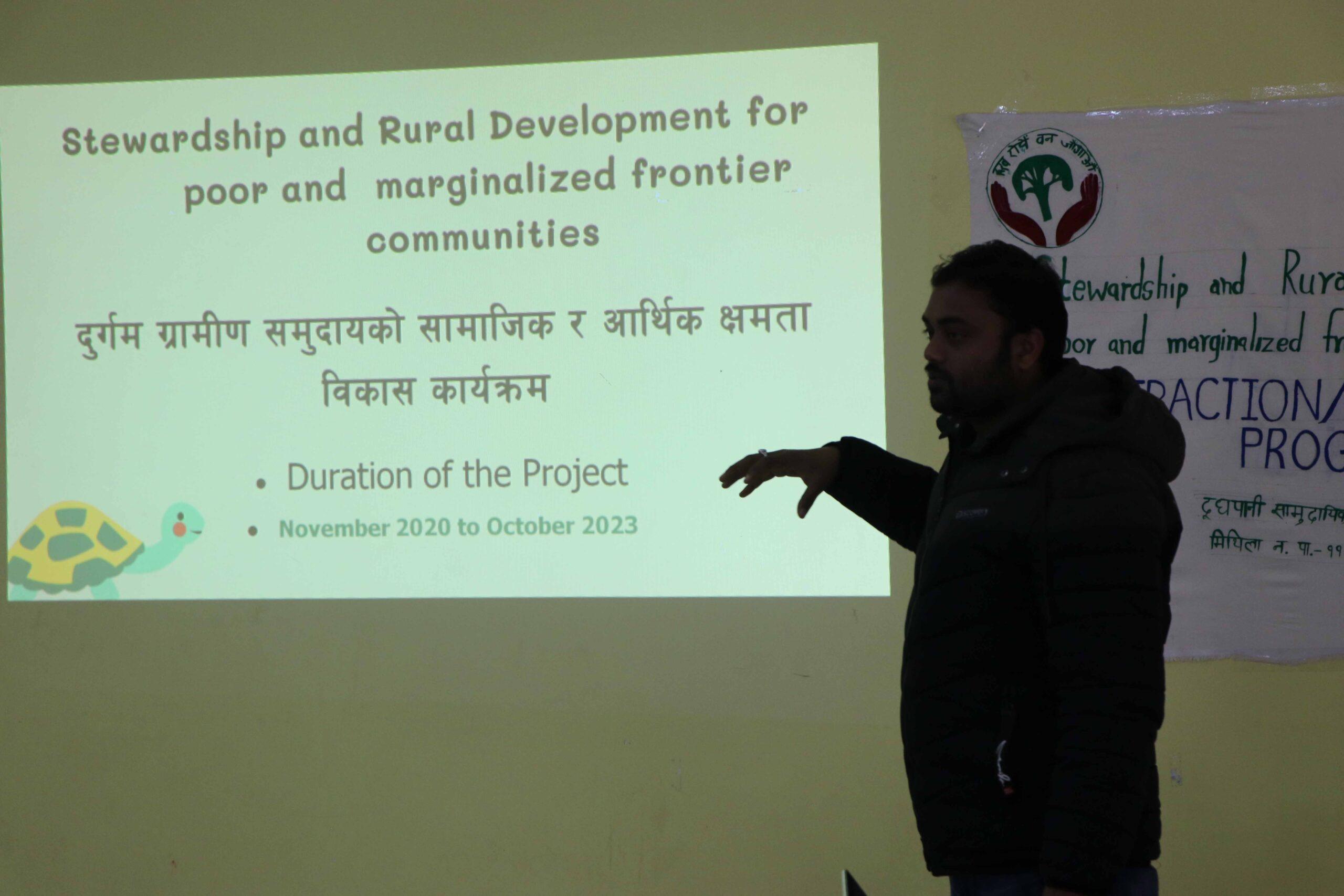 Presentation by MWT Chairman