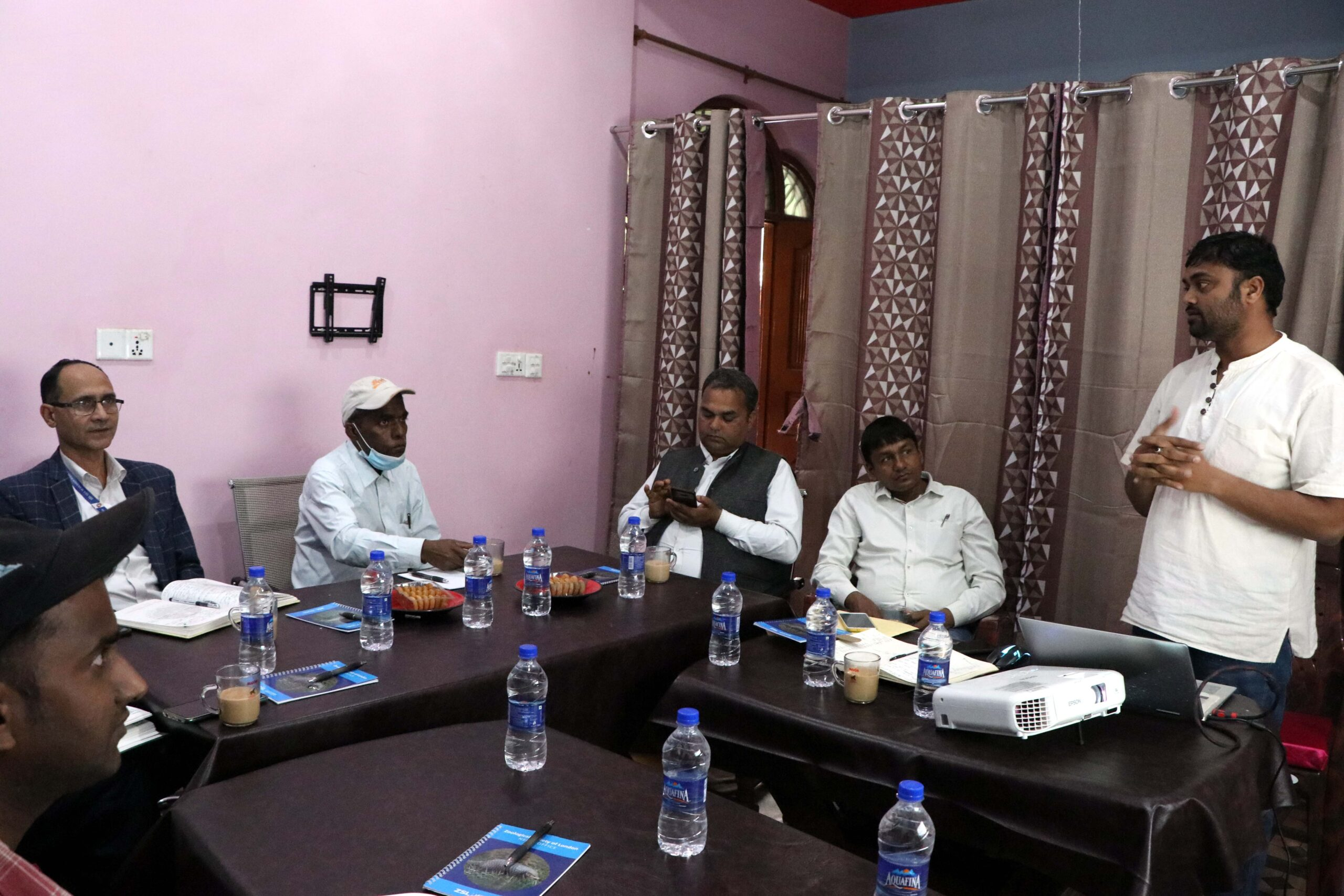MWT Chairman presenting during meeting